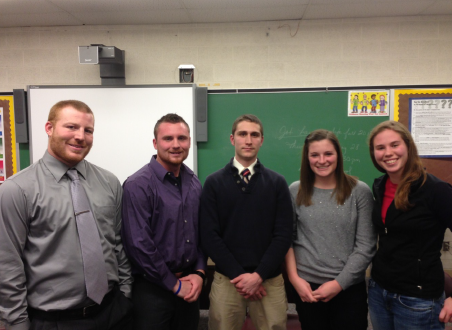 Recent graduates on the panel (L to R) Andy Ford, Brian Bain, Pete Konieczki, Lindsay Day and Ann Hersman.